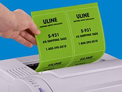 fluorescent laser labels in stock uline. Black Bedroom Furniture Sets. Home Design Ideas