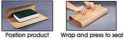 Instructions: Position Product, Wrap & Press to Seal