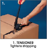 1. Tensioner - Tightens strapping