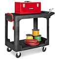 Rubbermaid® Flat Shelf Carts w/Flat Handle