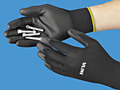 Uline Black Polyurethane Coated Glove