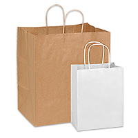 paper and plastic retail shopping bags in stock uline