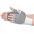 Fingerless PVC Dot Knit Gloves