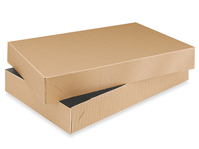 Buy apparel boxs - 2-piece Kraft Apparel Boxes 17 x 11 x 2 1/2""