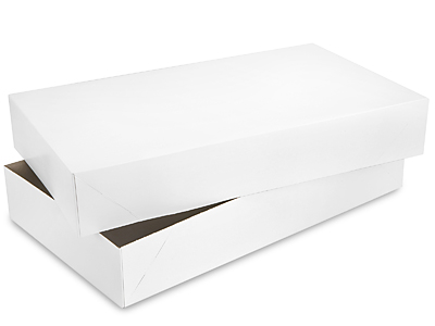 Buy apparel boxs - 2-piece White Apparel Boxes 24 x 14 x 4""