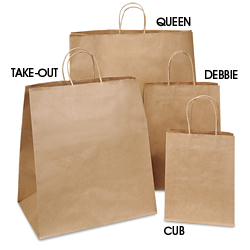 brown paper gift bags kraft shopping bags in stock uline
