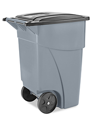 Rubbermaid® Trash Can with Wheels - 50 Gallon, Gray H-1107GR