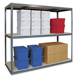 "Wide Span Storage Rack, 72 x 24 x 72"" - Particle Board"