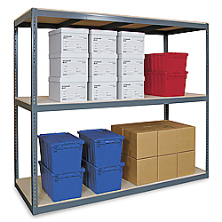 "Wide Span Storage Rack, 96 x 18 x 72"" - Particle Board"