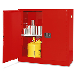 Flammable Storage Cabinet, 30 Gallon - Manual Doors