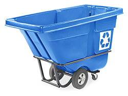 Rubbermaid<sup>®</sup> Tilt Truck Recycling Container, 1/2 Cubic Yard