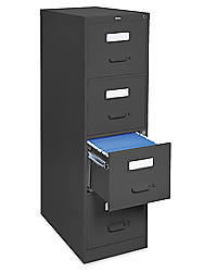 Brilliant Vertical File Cabinet  4 Drawer Light Gray H1915GR  Uline