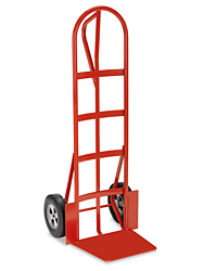 Loop Handle Steel Hand Truck With Extra Large Nose Plate - Solid