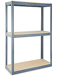 "Wide Span Storage Rack, 36 x 12 x 60"" - Particle Board"