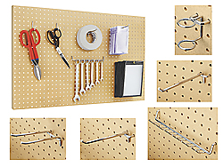 "24 x 48"" Wood Pegboard Starter Kit"