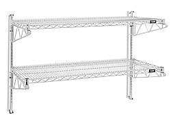 Wall-Mount Wire Shelving, 30 x 18 x 34""