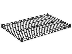 "Additional Shelves for Wire Shelving, 36 x 24"" - Black"