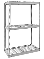 "Wide Span Storage Rack, 72 x 18 x 72"" - Wire Decking"