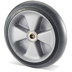 "10"" Solid Rubber Wheel - 250 lb. Capacity"