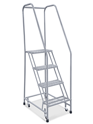 4 Step Narrow Aisle Ladder Assembled H 5072a 10 Uline