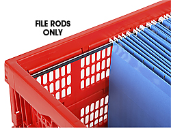 File Rods for Milk Crates