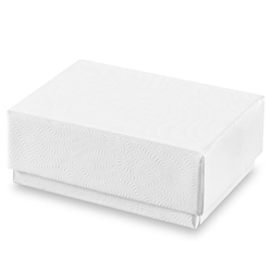 "1 3/4 x 1 1/8 x 5/8"" White Swirl Jewelry Boxes"