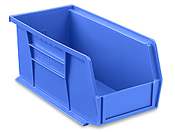 "11 x 5 1/2 x 5"" Plastic Stackable Bins"