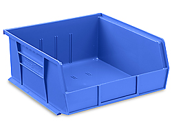 "11 x 11 x 5"" Plastic Stackable Bins"