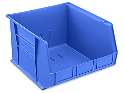 "18 x 16 1/2 x 11"" Plastic Stackable Bins"