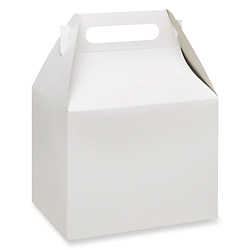 "10 x 7 x 8"" White Gable Boxes"