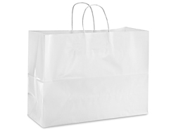 "16 x 6 x 12 1/4"" Vogue Gloss Tinted Shopping Bags"