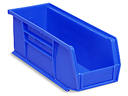 "11 x 4 x 4"" Plastic Stackable Bins"