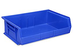 "11 x 16 1/2 x 5"" Plastic Stackable Bins"