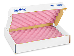 "16 x 10 x 2 3/4"" Anti-Static Foam Shippers"