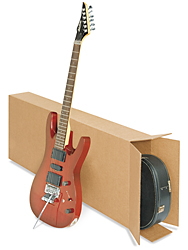 "18 x 6 x 45"" 275 lb. FOL Side Loading Corrugated Guitar Boxes"