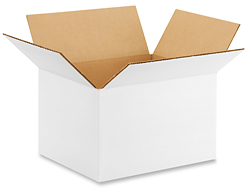 "10 x 8 x 6"" White Corrugated Boxes"
