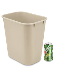Rubbermaid Office Trash Can 3 Gallon Beige S 14491be