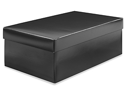 "14 x 8 x 5"" Black Gloss Shoe Boxes"
