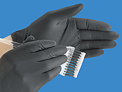 Black Exam Grade Latex Powder-Free Gloves