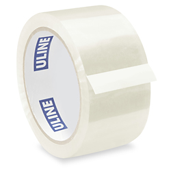 "2"" x 55 yards Clear 2 Mil Uline Industrial Tape"