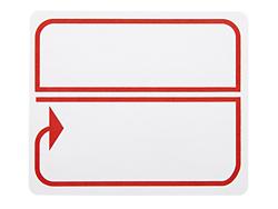 preprinted border laser labels red white s 3198b uline. Black Bedroom Furniture Sets. Home Design Ideas
