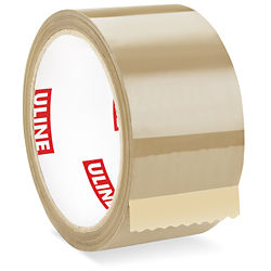 "2"" x 55 yards Tan 1.7 Mil Uline Economy Tape"
