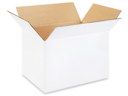 "18 x 12 x 12"" White Corrugated Boxes"