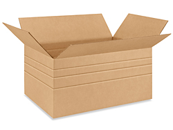 "24 x 16 x 12"" Multi-depth Corrugated Boxes"