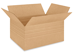 "24 x 18 x 12"" Multi-depth Corrugated Boxes"