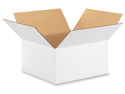 "12 x 12 x 6"" White Corrugated Boxes"