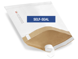 "8 1/2 x 12"" Uline White Self-Seal Padded Mailers #2"