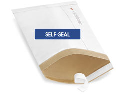 "8 1/2 x 14 1/2"" Uline White Self-Seal Padded Mailers #3"