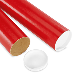 "3 x 24"" Colored Mailing Tubes - .070"" thick"