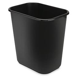 Rubbermaid Office Trash Can 7 Gallon Black S 9970bl
